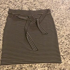 LOFT Skirts - LOFT Tall STRIPED TIE WAIST PENCIL SKIRT